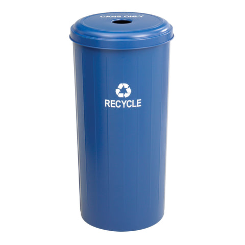 Safco Products Tall Round Recycling Receptacle 9632BU(Image 1)