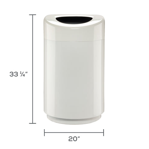 Safco Products Open Top Receptacle - 30 Gallon 9920WH Image 2
