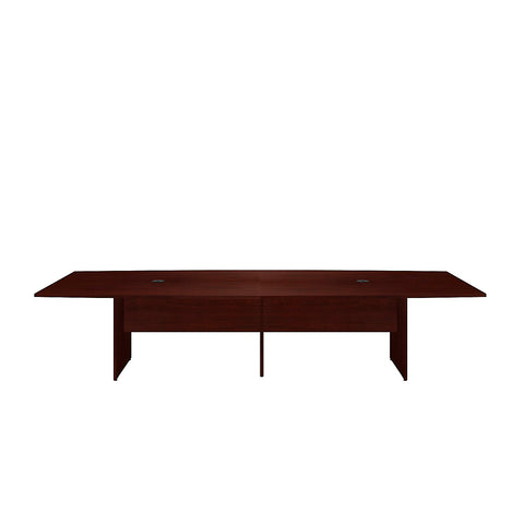 Bush Business Furniture 120L x 48W Boat Top Conference Table with Wood Base in Harvest Cherry ; UPC:042976504960 ; Image 2