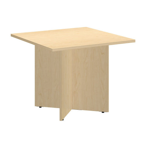 Bush BBF Conference Tables 36 Inch Square Conference Table - Wood Base, Natural Maple 99TB3636AC ; UPC: 042976517762 ; Image 1