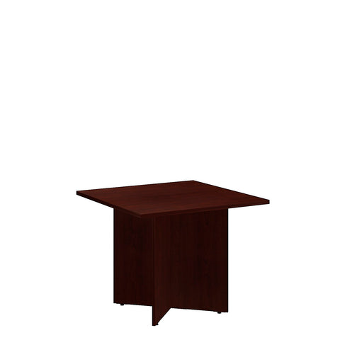 Bush BBF Conference Tables 36 Inch Square Conference Table - Wood Base, Harvest Cherry 99TB3636CS ; UPC: 042976517779 ; Image 5