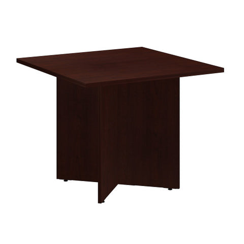 Bush BBF Conference Tables 36 Inch Square Conference Table - Wood Base, Harvest Cherry 99TB3636CS ; UPC: 042976517779 ; Image 1