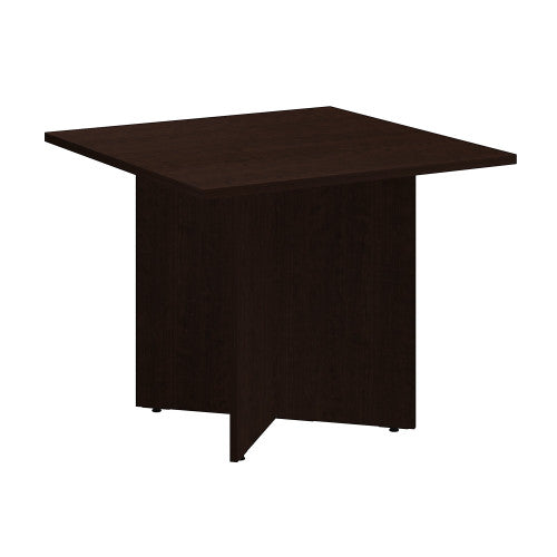 Bush BBF Conference Tables 36 Inch Square Conference Table - Wood Base, Mocha Cherry 99TB3636MR ; UPC: 042976517809 ; Image 1