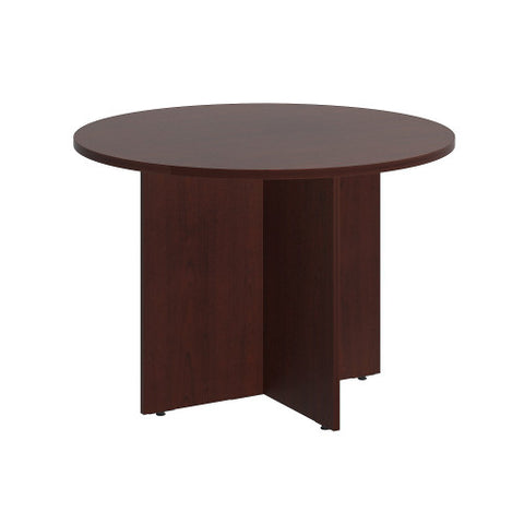 Bush BBF Conference Tables 42W Round Conference Table - Wood Base, Harvest Cherry 99TB42RCS ; UPC: 042976517823 ; Image 1