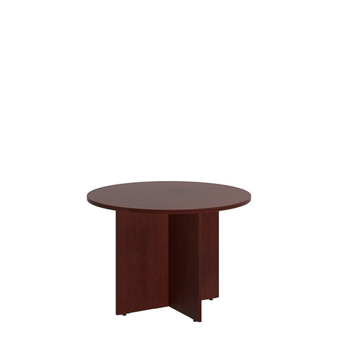 Bush BBF Conference Tables 42W Round Conference Table - Wood Base, Harvest Cherry 99TB42RCS ; UPC: 042976517823 ; Image 5