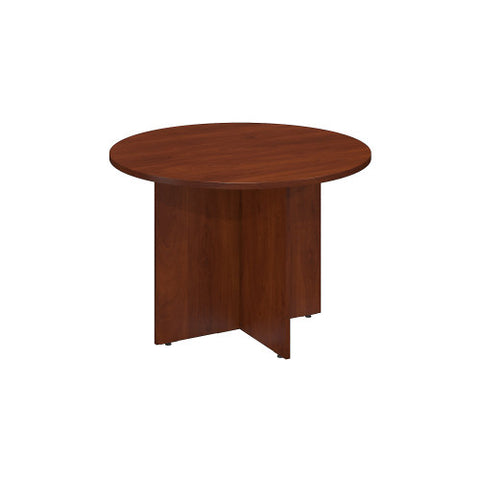 Bush BBF Conference Tables 42W Round Conference Table - Wood Base, Hansen Cherry 99TB42RHC ; UPC: 042976494711 ; Image 1