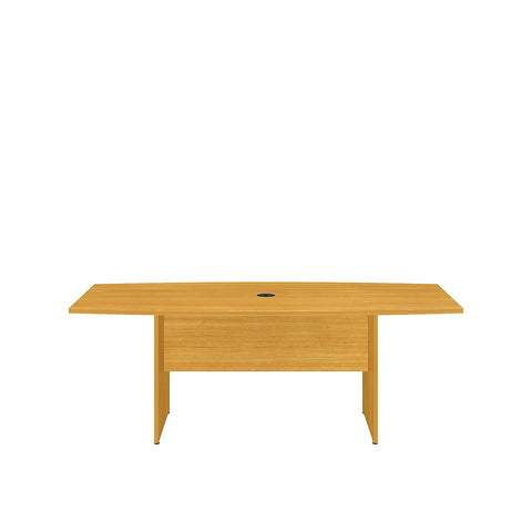 Bush Business Furniture 72L x 36W Boat Top Conference Table with Wood Base in Modern Cherry ; UPC:042976517892 ; Image 2