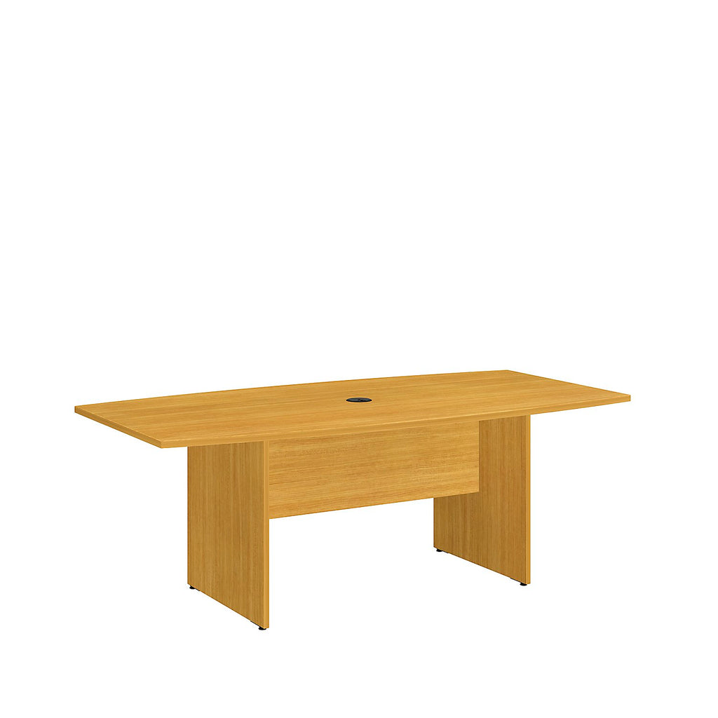 Bush Business Furniture 72L x 36W Boat Top Conference Table with Wood Base in Modern Cherry ; UPC:042976517892 ; Image 1