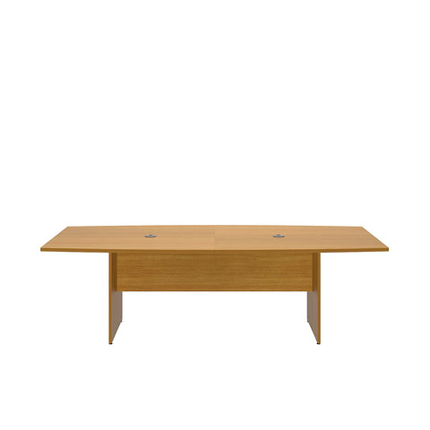 Bush Business Furniture 96L x 42W Boat Top Conference Table with Wood Base in Modern Cherry ; UPC:042976600044 ; Image 2