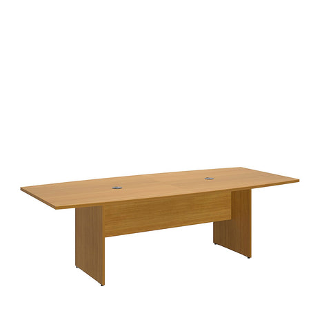 Bush Business Furniture 96L x 42W Boat Top Conference Table with Wood Base in Modern Cherry ; UPC:042976600044 ; Image 1