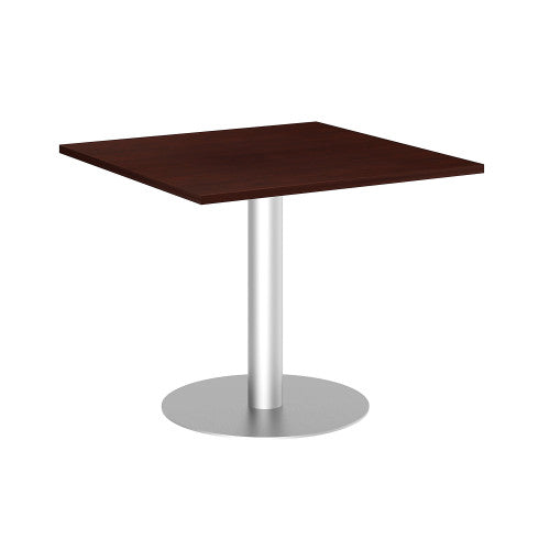 Bush BBF Conference Tables 36 in Square Conference Table Kit, Metal Disc Base, Harvest Cherry 99TBD36SCSSVK ; UPC: 042976518028 ; Image 1