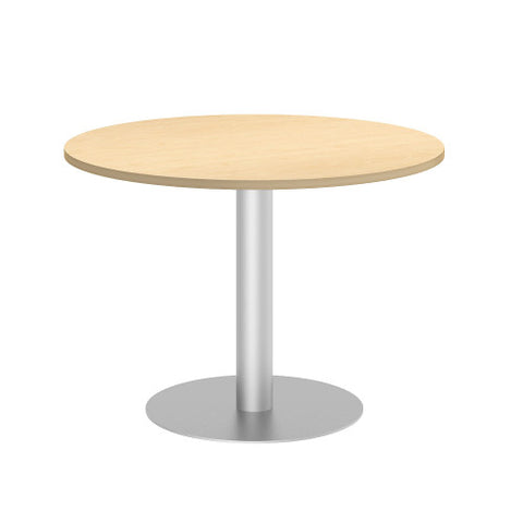 Bush BBF Conference Tables 42W Round Conference Table Kit - Metal Disc Base, Natural Maple 99TBD42RACSVK ; UPC: 042976528836 ; Image 1