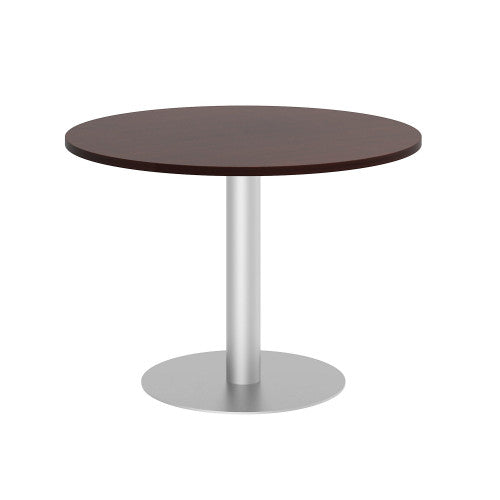 Bush BBF Conference Tables 42W Round Conference Table Kit - Metal Disc Base, Harvest Cherry 99TBD42RCSSVK ; UPC: 042976528850 ; Image 1