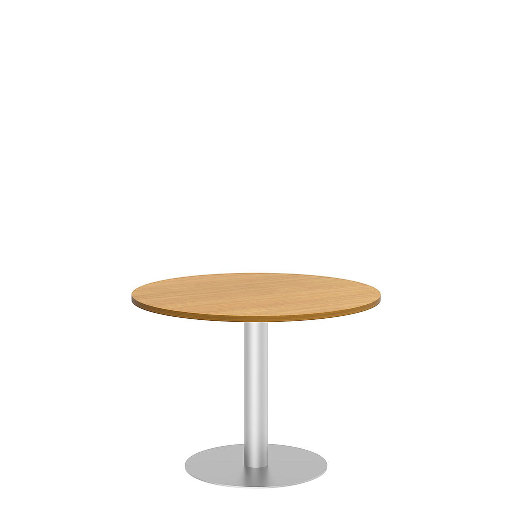 Bush Business Furniture 42W Round Conference Table with Metal Disc Base in Modern Cherry ; UPC:042976528874 ; Image 1