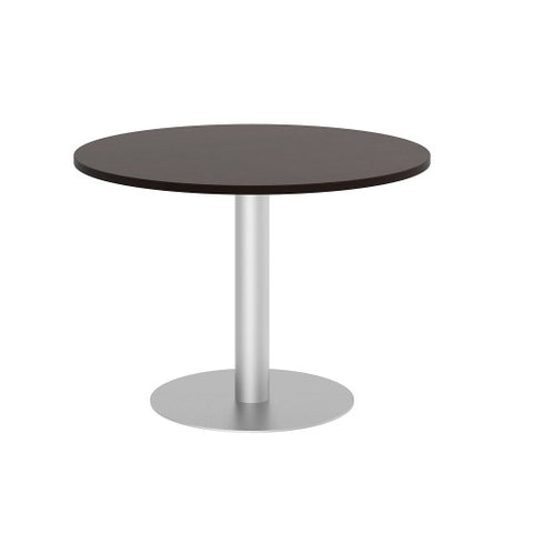 Bush BBF Conference Tables 42W Round Conference Table Kit - Metal Disc Base, Mocha Cherry 99TBD42RMRSVK ; UPC: 042976528898 ; Image 1