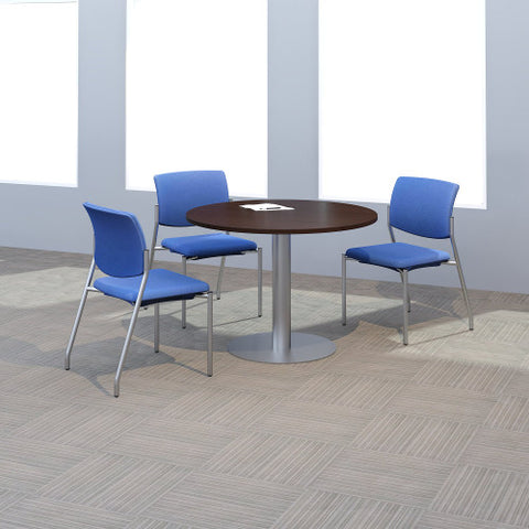 Bush BBF Conference Tables 42W Round Conference Table Kit - Metal Disc Base, Mocha Cherry 99TBD42RMRSVK ; UPC: 042976528898 ; Image 2