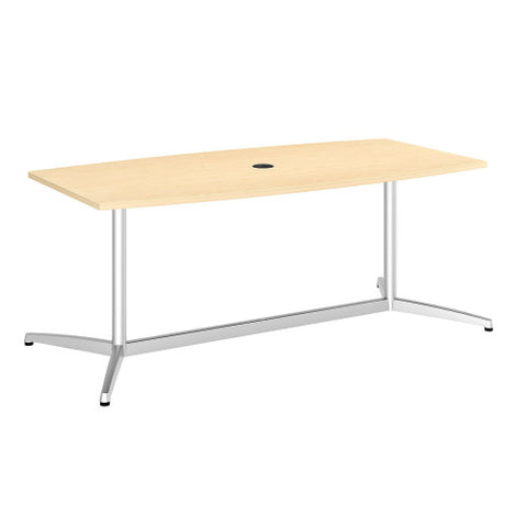 Bush BBF Conference Tables 72L x 36W Conference Table kit - Metal Base, Natural Maple 99TBM72ACSVK ; UPC: 042976528997 ; Image 1