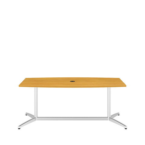 Bush Business Furniture 72L x 36W Boat Top Conference Table with Metal Base in Modern Cherry ; UPC:042976529048 ; Image 2