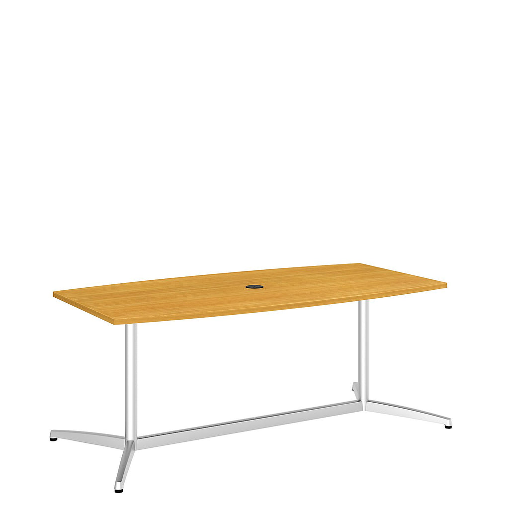 Bush Business Furniture 72L x 36W Boat Top Conference Table with Metal Base in Modern Cherry ; UPC:042976529048 ; Image 1
