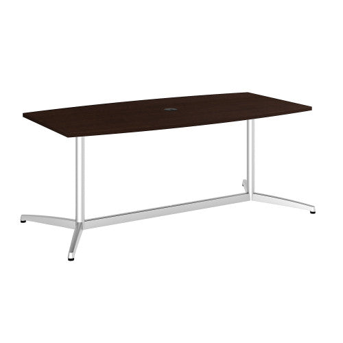 Bush BBF Conference Tables 72L x 36W Conference Table kit - Metal Base, Mocha Cherry 99TBM72MRSVK ; UPC: 042976504892 ; Image 1