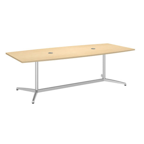 Bush BBF Conference Tables 96L x 42W Conference Table Kit - Metal Base, Natural Maple 99TBM96ACSVK ; UPC: 042976529062 ; Image 1