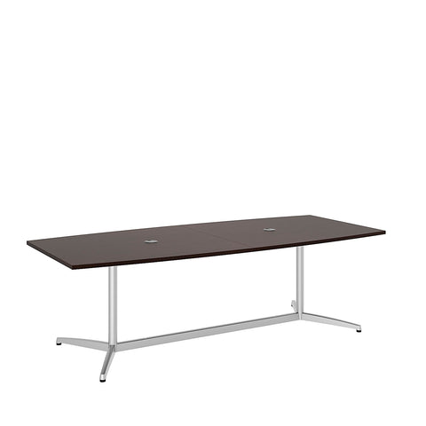 Bush BBF Conference Tables 96L x 42W Conference Table Kit - Metal Base, Mocha Cherry 99TBM96MRSVK ; UPC: 042976529109 ; Image 5