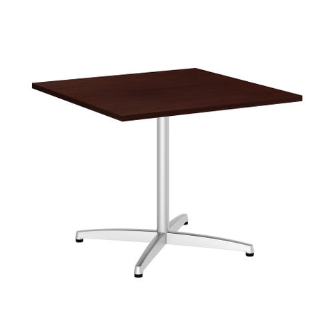 Bush BBF Conference Tables 36 Inch Square Conference Table Kit - Metal X Base, Harvest Cherry 99TBX36SCSSVK ; UPC: 042976529147 ; Image 1