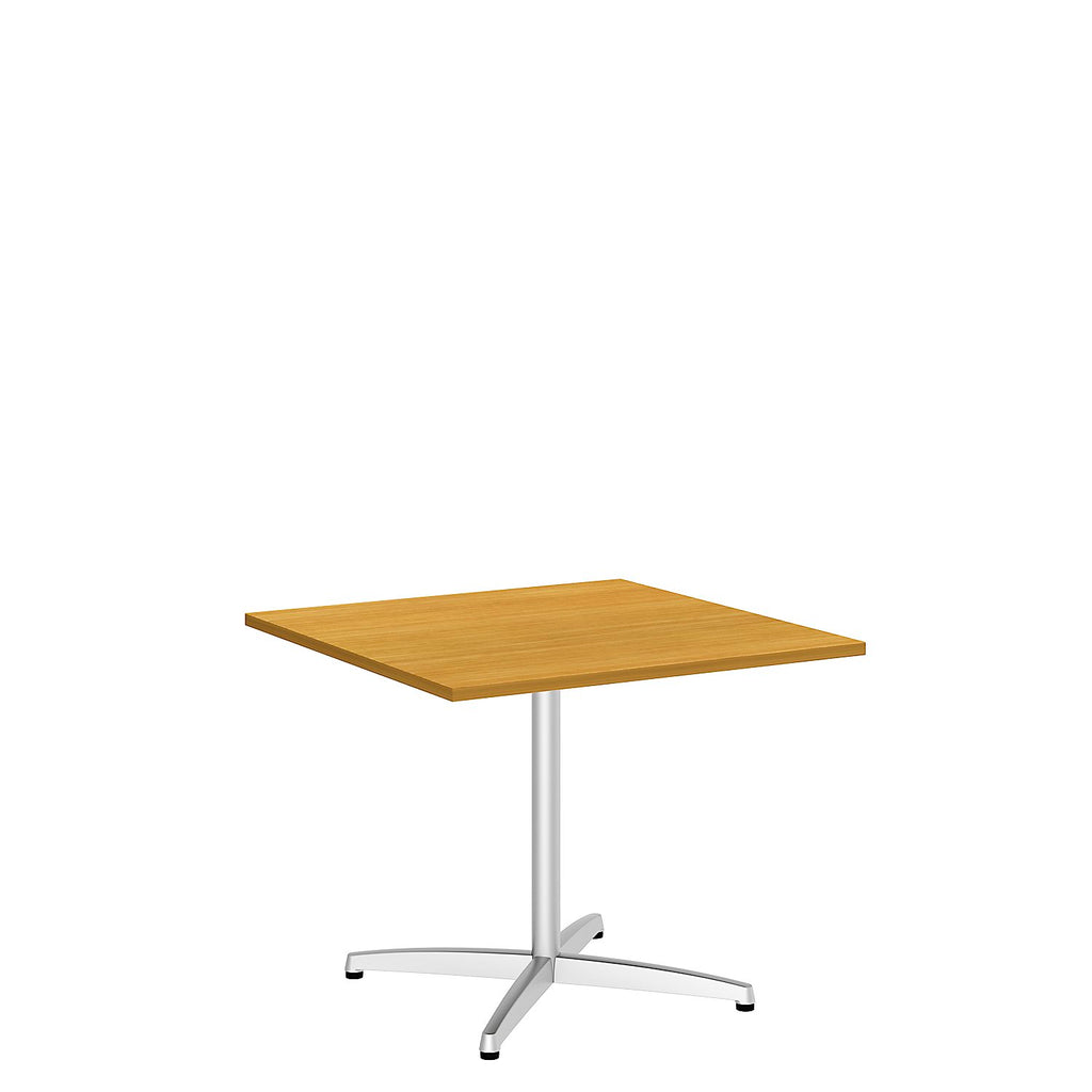 Bush Business Furniture 36W Square Conference Table with Metal X Base in Modern Cherry ; UPC:042976529161 ; Image 1