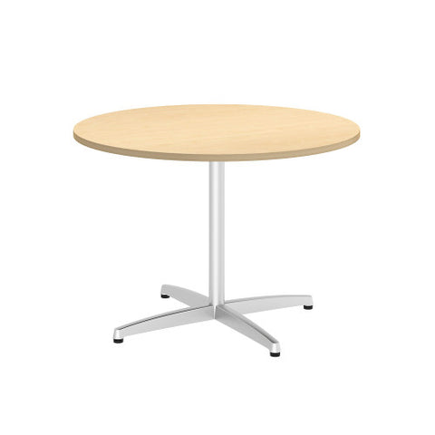Bush BBF Conference Tables 42W Round Conference Table Kit - Metal X Base, Natural Maple 99TBX42RACSVK ; UPC: 042976529208 ; Image 1
