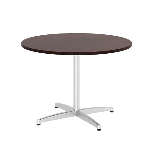 Bush BBF Conference Tables 42W Round Conference Table Kit - Metal X Base, Harvest Cherry 99TBX42RCSSVK ; UPC: 042976529222 ; Image 1