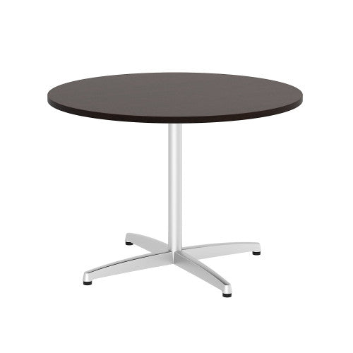 Bush BBF Conference Tables 42W Round Conference Table Kit - Metal X Base, Mocha Cherry 99TBX42RMRSVK ; UPC: 042976529260 ; Image 1