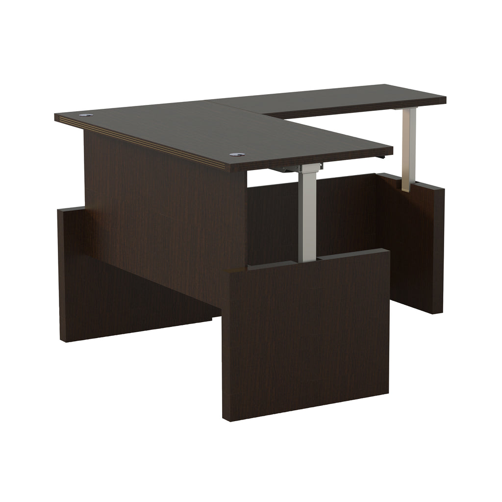 "Safco Products Aberdeen Height-Adj Desk, Straight Front w/ Return, 72"" W AT59LDC(Image 2)"
