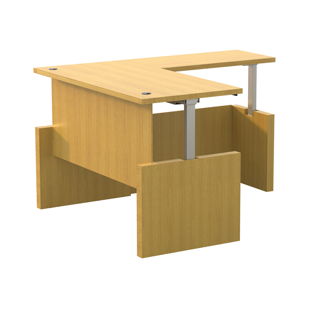 "Safco Products Aberdeen Height-Adj Desk, Straight Front w/ Return, 66"" W AT60LMA(Image 2)"