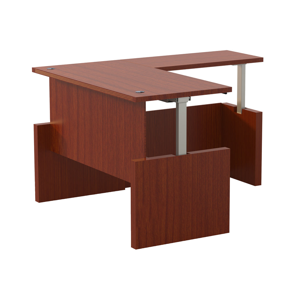 "Safco Products Aberdeen Height-Adj Desk, Straight Front w/ Return, 60"" W AT61LCR(Image 2)"
