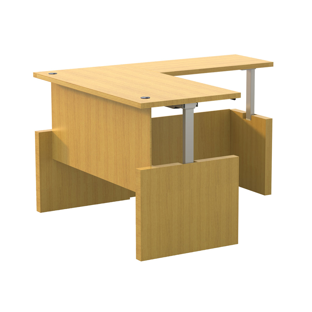 "Safco Products Aberdeen Height-Adj Desk, Straight Front w/ Return, 60"" W AT61LMA(Image 2)"