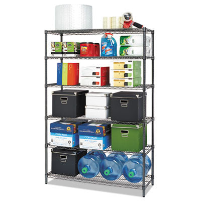 Alera Commercial Wire Shelving Kit ALESW664818BL,  (UPC:042167923556)