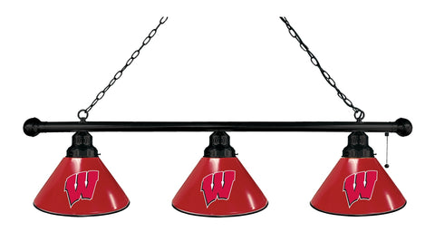 "Wisconsin ""W"" 3 Shade Billiard Light with Black Fixture by Holland Bar Stool; UPC: 071235691288"