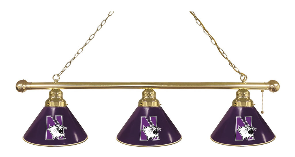 Northwestern 3 Shade Billiard Light with Brass Fixture by Holland Bar Stool; UPC: 071235692155
