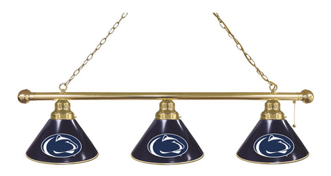 Penn State 3 Shade Billiard Light with Brass Fixture by Holland Bar Stool; UPC: 071235692209