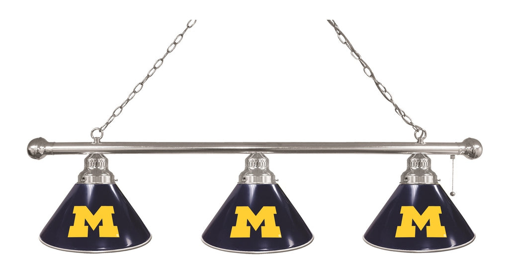 Michigan 3 Shade Billiard Light with Chrome Fixture by Holland Bar Stool; UPC: 071235693237