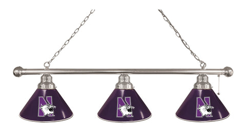Northwestern 3 Shade Billiard Light with Chrome Fixture by Holland Bar Stool; UPC: 071235693480