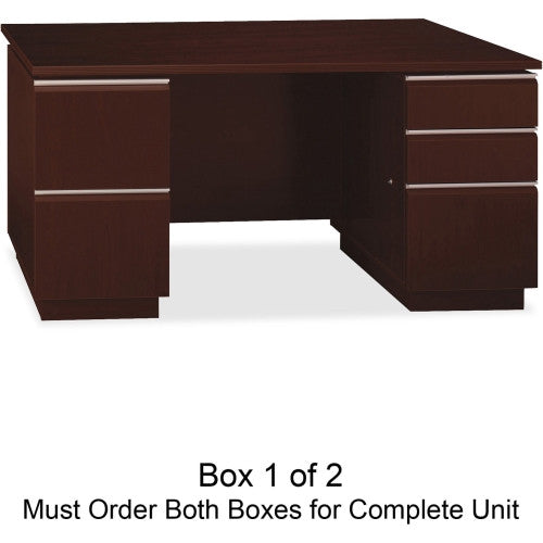 Bush Milano2 60W Double Pedestal Desk Box 1 of 2 BSH50DDP60A1CS, Cherry (UPC:042976001254)