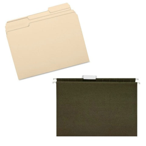 Hanging File Folders; BSN ; (035255175333) & BSN17525 Manilla File Folders (035255175258)