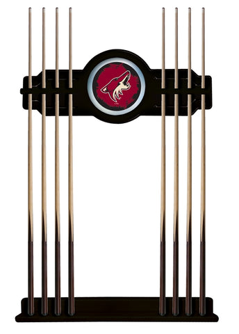 Arizona Coyotes Cue Rack in Black Finish by Holland Bar Stool; UPC: 071235435912