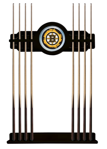 Boston Bruins Cue Rack in Black Finish by Holland Bar Stool; UPC: 071235435929