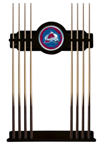 Colorado Avalanche Cue Rack in Black Finish by Holland Bar Stool; UPC: 071235435974