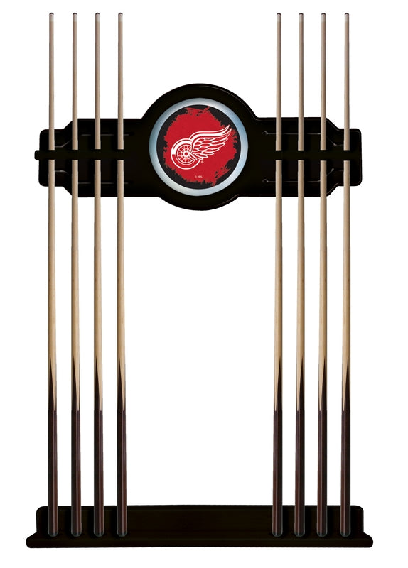 Detroit Red Wings Cue Rack in Black Finish by Holland Bar Stool; UPC: 071235436001