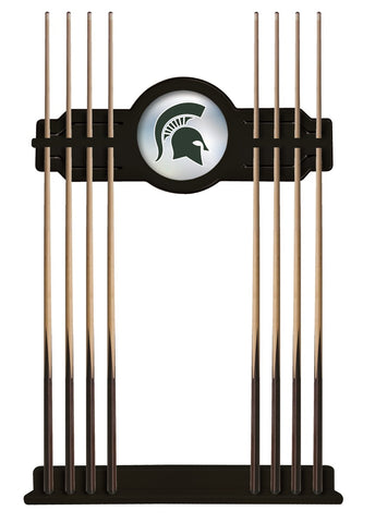 Michigan State Cue Rack in Black Finish by Holland Bar Stool; UPC: 071235430948