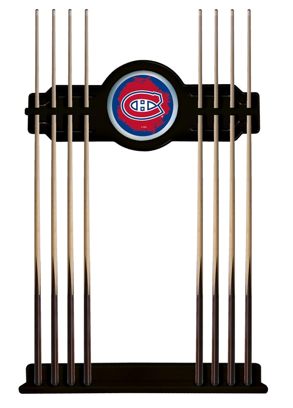 Montreal Canadiens Cue Rack in Black Finish by Holland Bar Stool; UPC: 071235436056