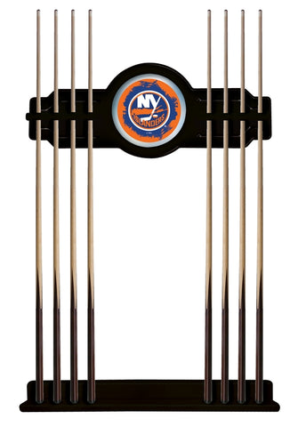 New York Islanders Cue Rack in Black Finish by Holland Bar Stool; UPC: 071235436087